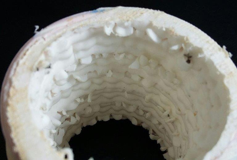 Sezione tubo danneggiato